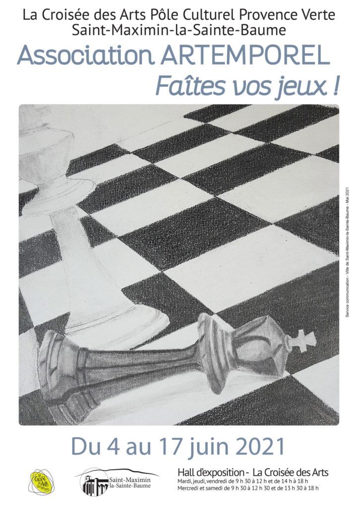 Association Artemporel - Faîtes vos jeux ! @ Halle d'exposition - La Croisée des Arts
