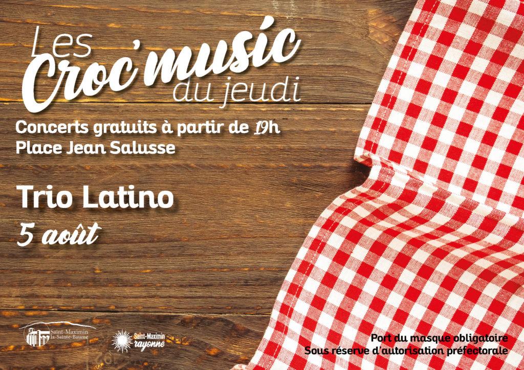 Les Croc'music -  Trio Latino @ Place Jean Salusse
