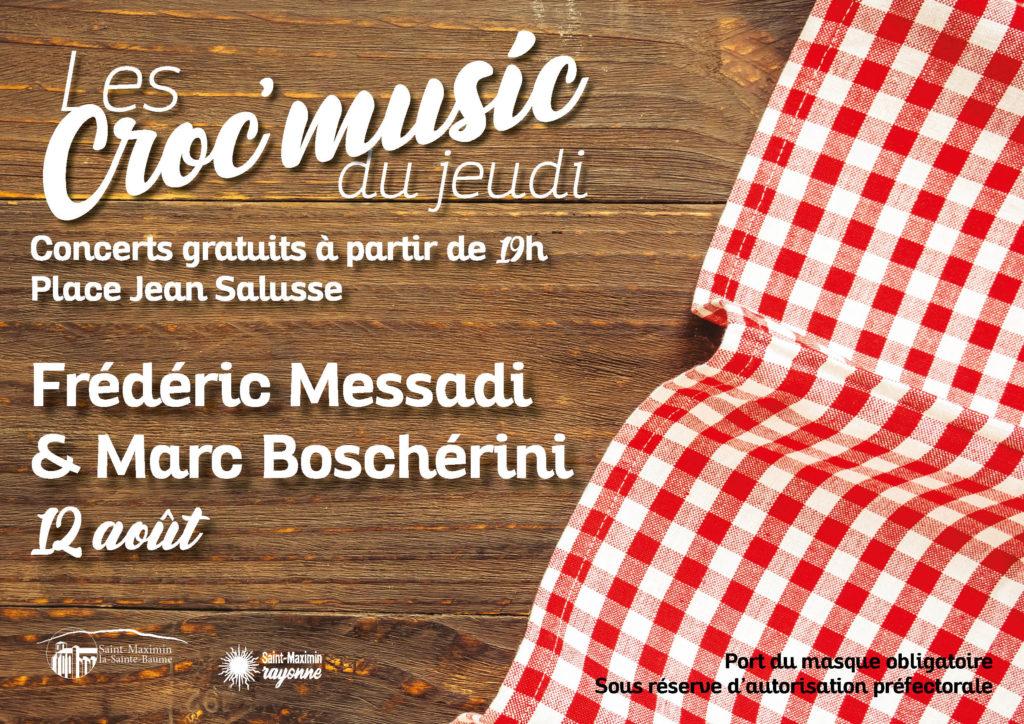 Les Croc'music - Frédéric Messadi & Marc Boschérini @ Place Jean Salusse