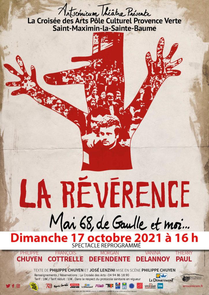 """""""La révérence, Mai 68, de Gaulle et moi..."""" @ La Croisée des Arts"""